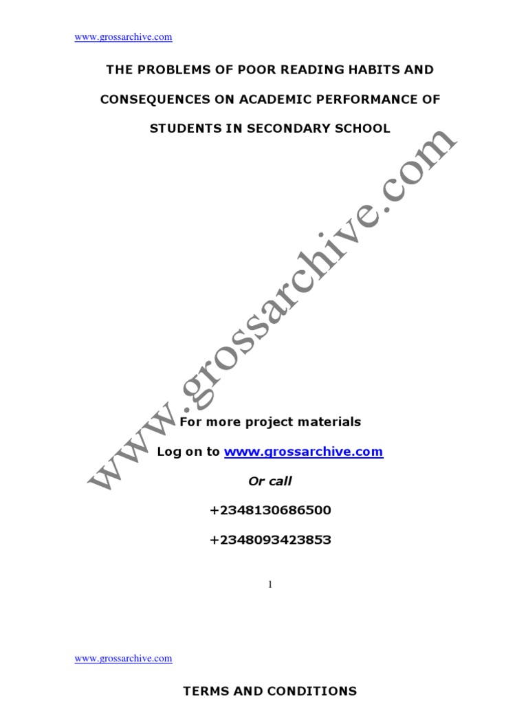causes of poor academic performance in secondary schools pdf