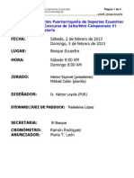 Convocatoria Primer Concurso de Salto FPDE 2013