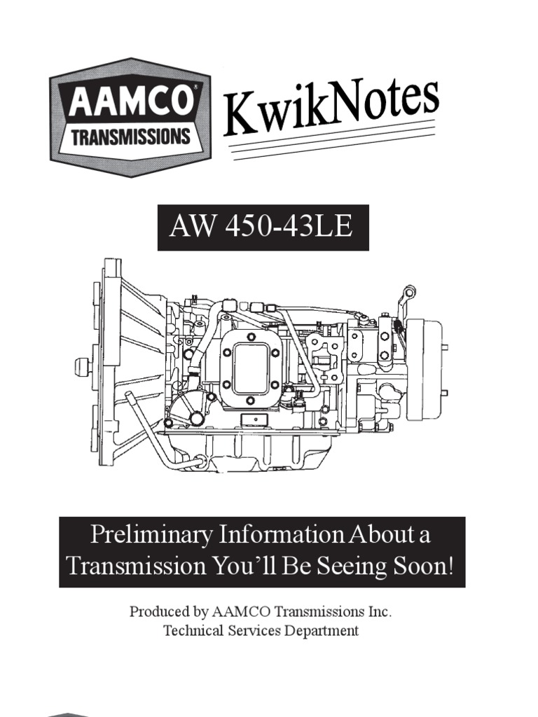 AW 450 kwicknotes | Clutch | Transmission (Mechanics)