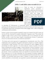 vegetariano sostenibile – costi carne – emissioni CO2 – consumo acqua – Rapporto Lav 2012