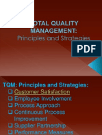 principle and strategies in TQM