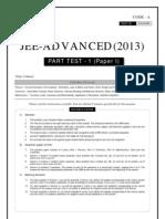 JEE-ADVANCED_Part Test 1 paper - 2013