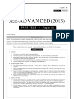 JEE-ADVANCED_Part Test 1_Paper II-2013