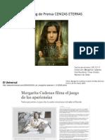 CAMEO-CENIZAS ETERNAS Clipping de Prensa Actualizado 19-1-12
