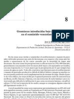 Gramineas Introducidas Bajo Riego en El Semi Arido Venezolano