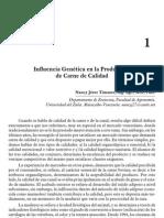 Influencia Genetica en La Produccion de Carne de Calidad. Industria Carnica