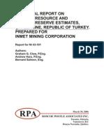 Cayeli Mines report
