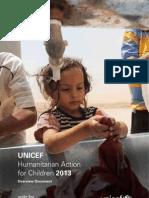 UNICEF - Humanitarian Action for Children 2013