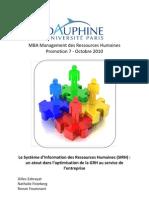 Memoire MBA Dauphine SIRH Et GRH