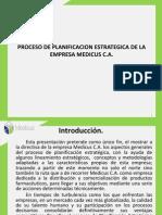 Proceso de Planificacion Estrategica de Medicus C.a.