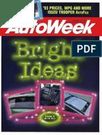 Autoweek 1993 Chicago auto show coverage