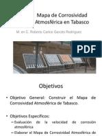 Mapa de corrosividad atmosférica en Tabasco