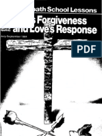 Sabbath School lesson - 1984 - God's Forgiveness and Love's Response
