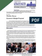 Senator Petersen Legislative Update Jan 25th