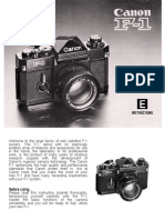 Canon F1 Manual