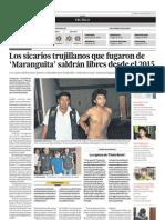 190113 sicarios trujillanos que fugaron de Maranguita saldrán libres desde el 2015