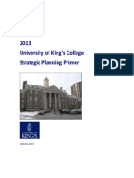 University of King's College Strategic Plan Primer 2013
