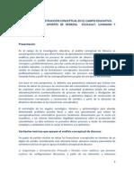 ANÁLISIS DE LA CONSTRUCCIÓN CONCEPTUAL EN EL CAMPO EDUCATIVO
