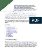 immunology def