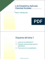 Curso de Estadistica Aplicada a Las Ciencias Sociales
