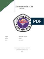 Manajemen SDA 20 Soal