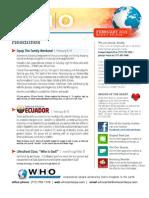 WHO February 2012 Bulletin