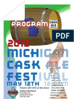 2012 Michigan Cask Ale Festival program