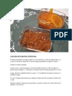 Cascara de Naranja Confitada