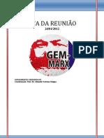 ATA DA REUNIÃO DO GEM  24.01.2013