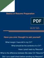 Resume Prepration