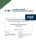 Ninth compliance report on Parkland Memorial Hospital