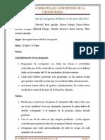 Acta de la Comisión de Catequesis del lunes 14 de enero del 2013