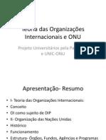 Teoria das Organizações Internacionais e ONU