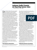 Data Warehouse Audits Promote and Sustain Reporting System Value