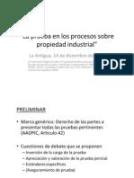 La Prueba en Los Procesos Sobre Propiedad Industrial