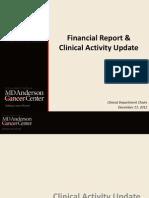 Financial report, MDACC