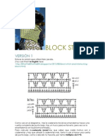 Block Stitch Pattern. 3 Versions. Charts. Diagramas