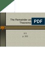 6 5 remainder  factor thm