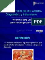 Pancreatitis Biliar Aguda