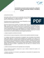 Enmiendas a los articulos 25 y 26 de la convención sobre la protección y utilización de cursos de aguas transfronterizos y lagos internacionales. Ginebra, 17 de febrero de 2004