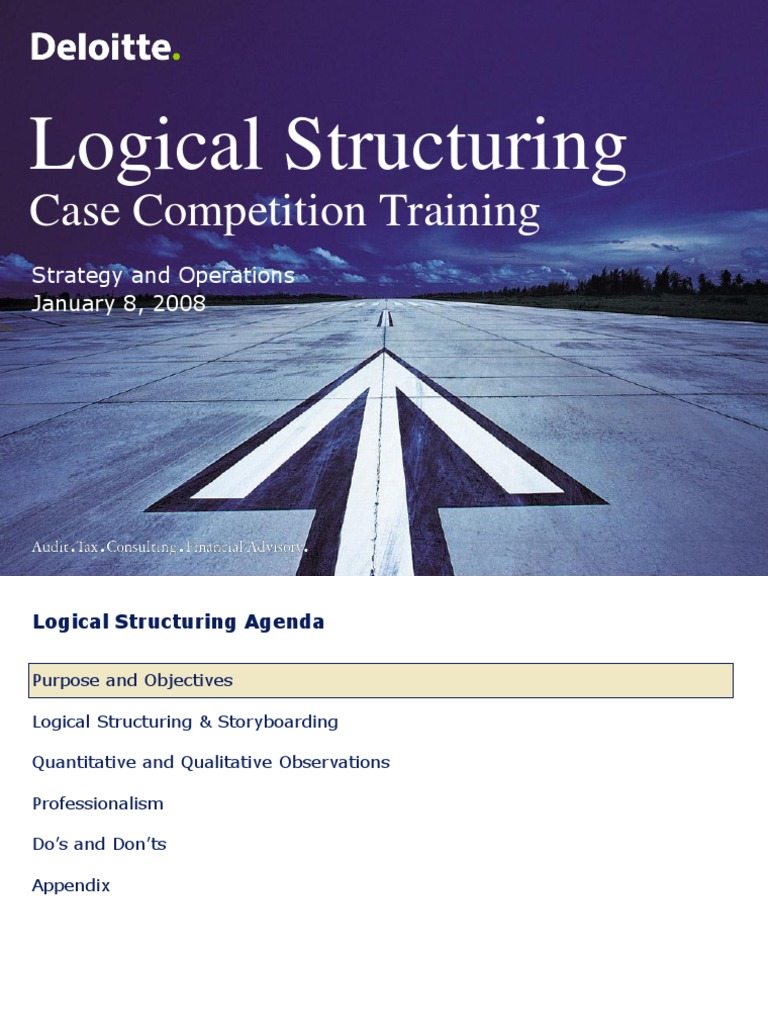 Logical Structuring - Deloitte's Case Competition Training | Google