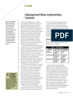Risk Management When Implementing 