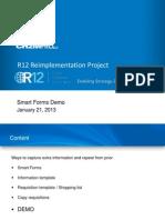 Oracle iProcurement Smart form usage
