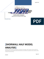 ShorWall Half Model Analysis 1.3 081012