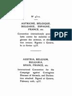 Convenio internacional para la lucha contra las enfermedades contagiosas de los animales. Ginebra, 20 de febrero de 1935