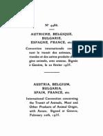 Convenio sobre el tránsito de animales, carne y de otros productos de origen animal. Ginebra, 20 de febrero de 1935