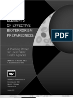 Elements of Effectiv Bioterrorism Response