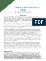 Timothy Standish-Afirmaciones Cientificas en La Biblia-GRI