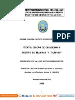 DISEÑO DE CRIADEROS Y CULTIVO DE TRUCHAS Y TILAPIAS
