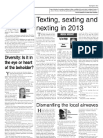 Texting, sexting and nexting in 2013